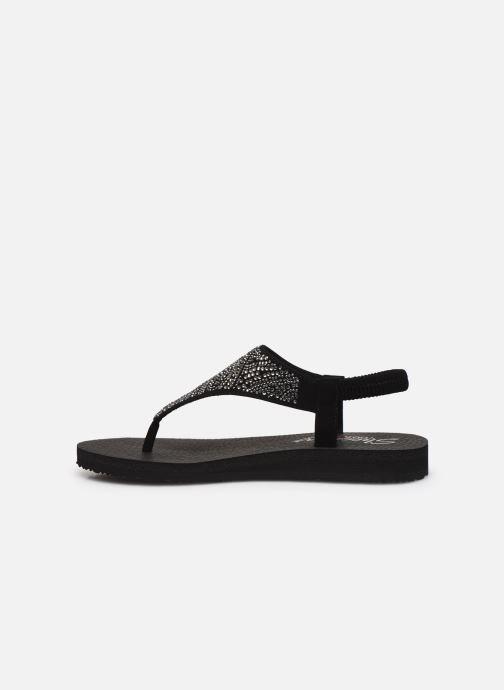 Sandales et nu-pieds Skechers MEDITATION NEW MOON Noir vue face