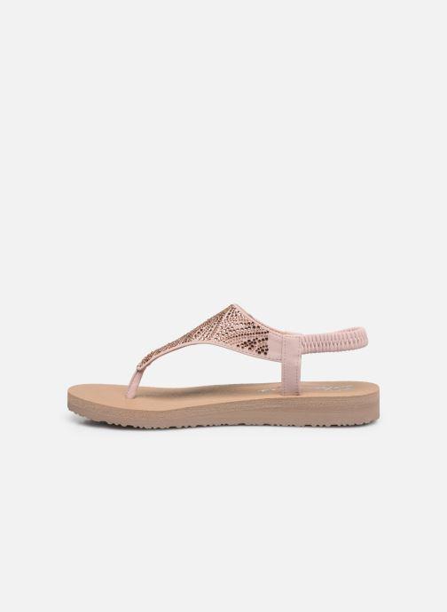Sandales et nu-pieds Skechers MEDITATION NEW MOON Rose vue face