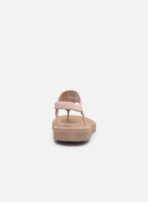 Sandales et nu-pieds Skechers MEDITATION NEW MOON Rose vue droite