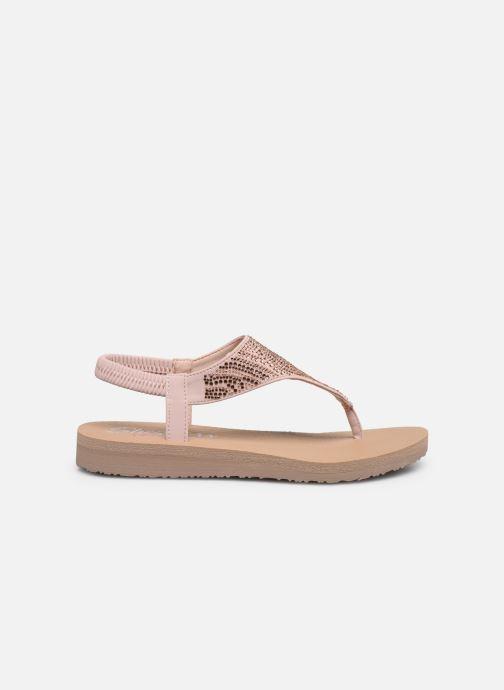 Sandales et nu-pieds Skechers MEDITATION NEW MOON Rose vue derrière