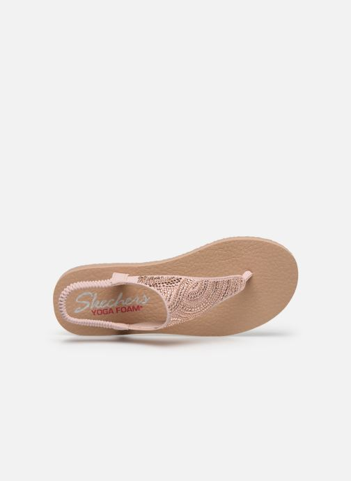 Sandales et nu-pieds Skechers MEDITATION NEW MOON Rose vue gauche