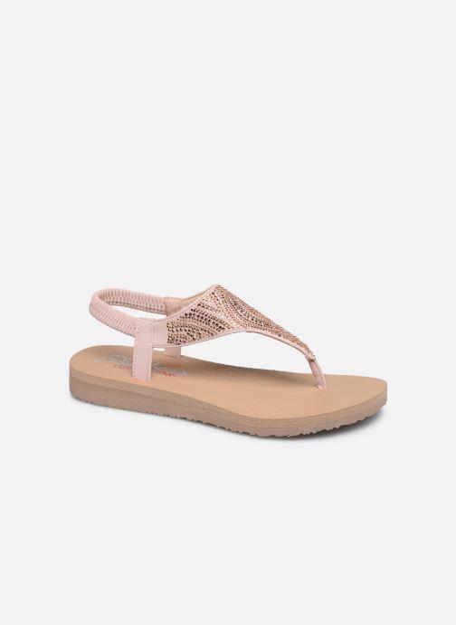 Sandales et nu-pieds Skechers MEDITATION NEW MOON Rose vue détail/paire