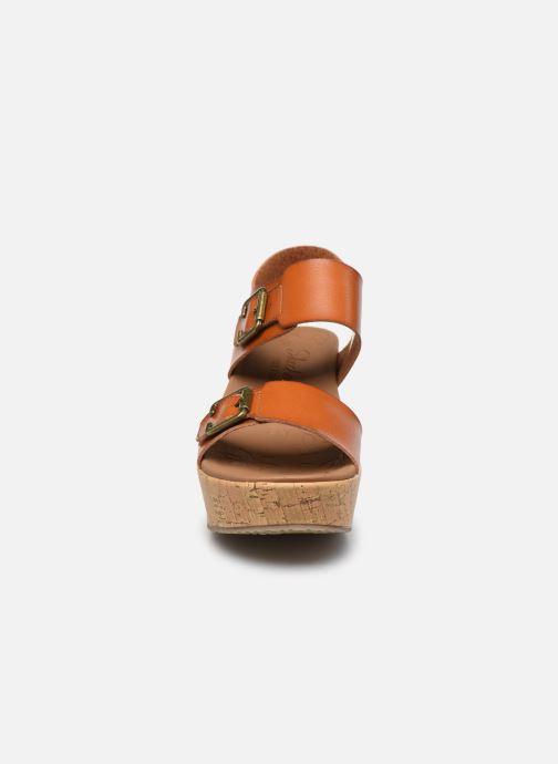 Sandales et nu-pieds Skechers BRIT GO GETTER Marron vue portées chaussures