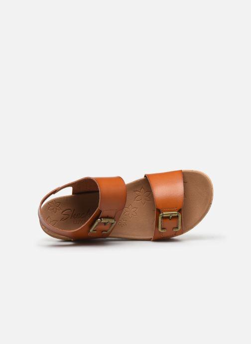 Sandales et nu-pieds Skechers BRIT GO GETTER Marron vue gauche