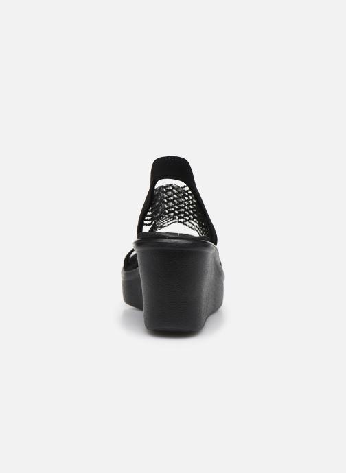 Sandalen Skechers RUMBLE UP CLOUD CHASER schwarz ansicht von rechts