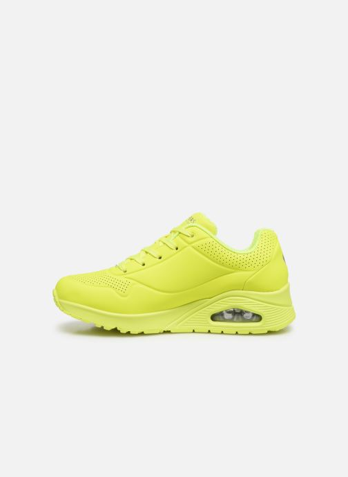 Sneakers Skechers UNO NIGHT SHADES Giallo immagine frontale