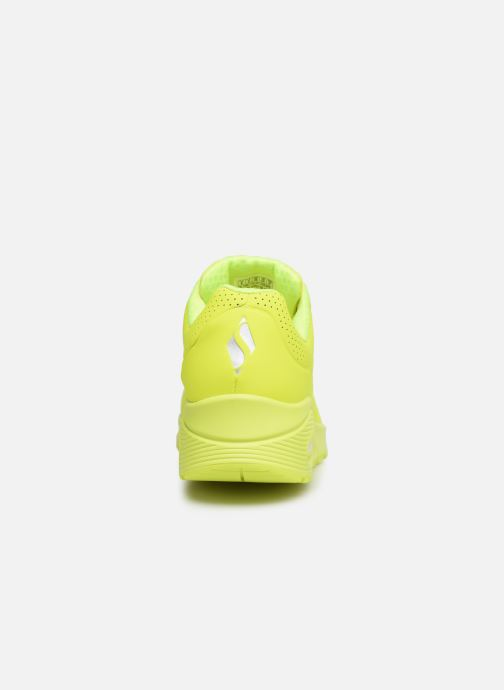 Baskets Skechers UNO NIGHT SHADES Jaune vue droite