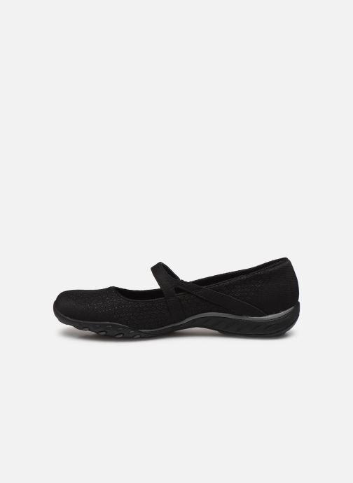 Hausschuhe Skechers BREATHE-EASY LOVE TOO schwarz ansicht von vorne
