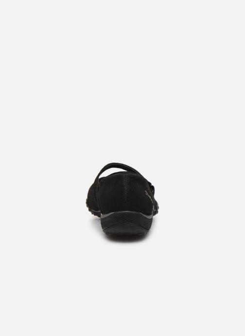 Hausschuhe Skechers BREATHE-EASY LOVE TOO schwarz ansicht von rechts