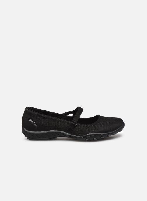 Hausschuhe Skechers BREATHE-EASY LOVE TOO schwarz ansicht von hinten