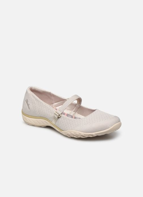 Chaussons Skechers BREATHE-EASY LOVE TOO Beige vue détail/paire