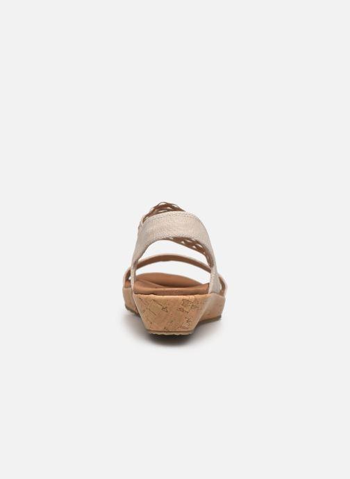 Sandalias Skechers BRIE MOST WANTED Blanco vista lateral derecha
