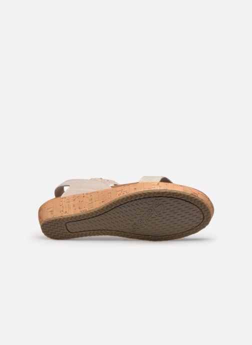 Sandalias Skechers BRIE MOST WANTED Blanco vista de arriba