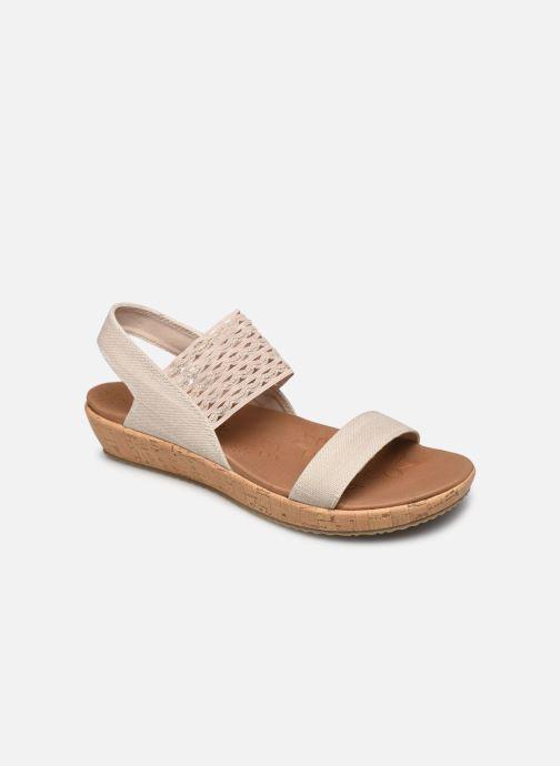 Sandalias Skechers BRIE MOST WANTED Blanco vista de detalle / par