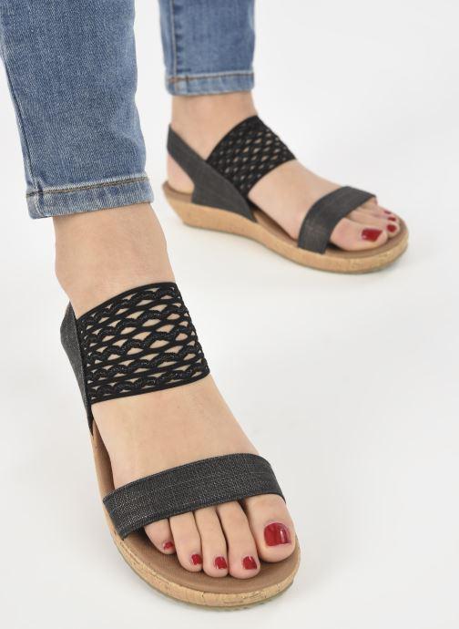 Sandalen Skechers BRIE MOST WANTED schwarz ansicht von unten / tasche getragen
