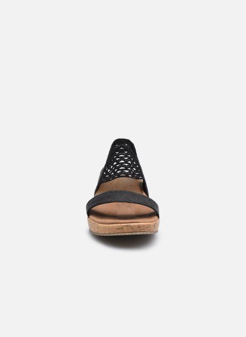 Sandalen Skechers BRIE MOST WANTED schwarz schuhe getragen