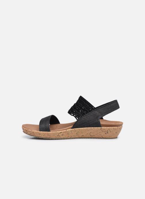 Sandalen Skechers BRIE MOST WANTED schwarz ansicht von vorne