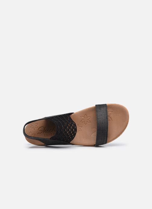 Sandalen Skechers BRIE MOST WANTED schwarz ansicht von links