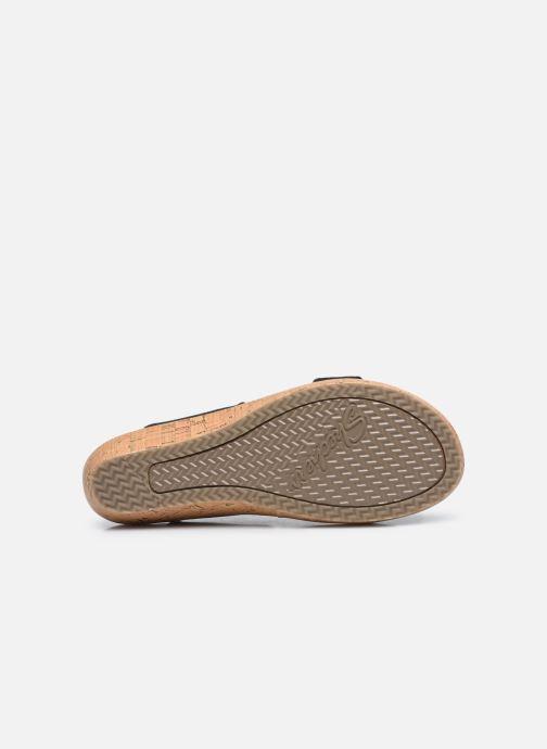 Sandalen Skechers BRIE MOST WANTED schwarz ansicht von oben