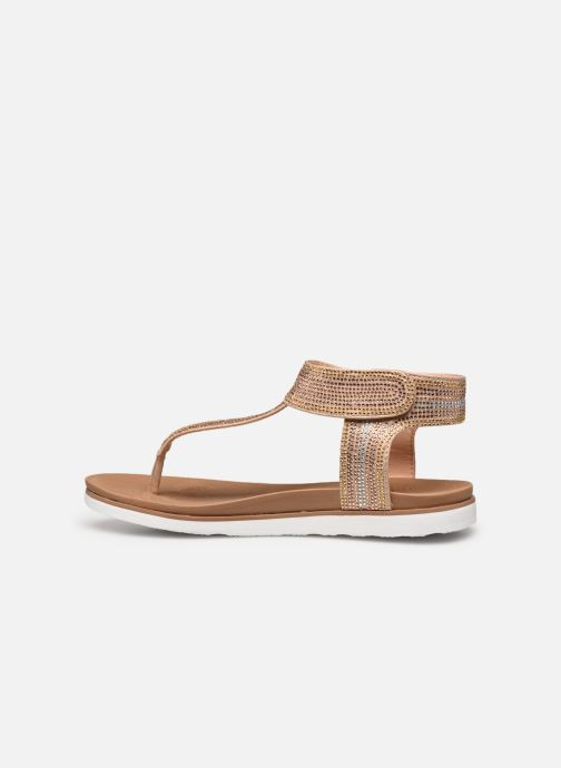 Sandalias Skechers MOON KEEPERS Oro y bronce vista de frente