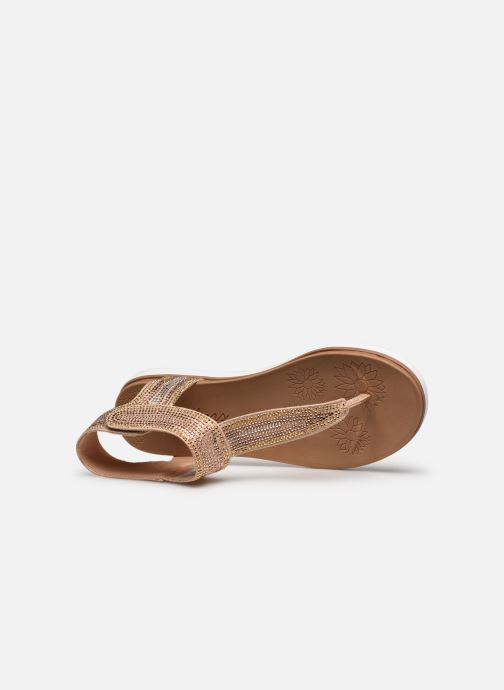 Sandalias Skechers MOON KEEPERS Oro y bronce vista lateral izquierda