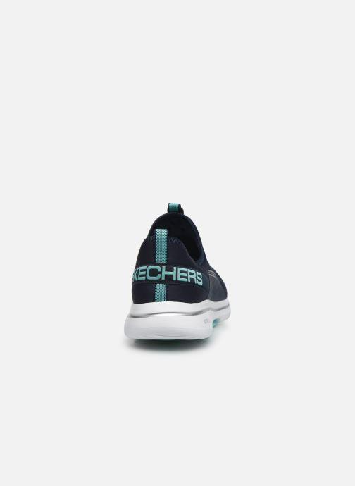 Deportivas Skechers GO WALK 5 SOVEREIGN Azul vista lateral derecha
