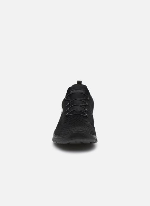 Baskets Skechers SUMMITS FAST ATTRACTION Noir vue portées chaussures