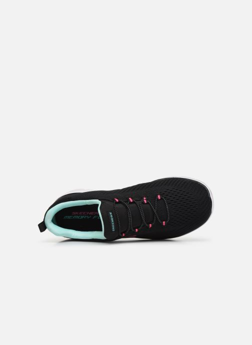 Deportivas Skechers SUMMITS FAST ATTRACTION Negro vista lateral izquierda