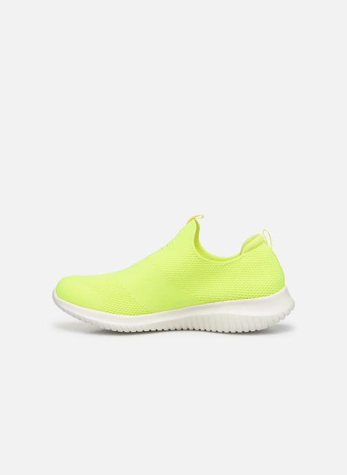 Baskets Skechers ULTRA FLEX CANDY CRAVINGS Jaune vue face