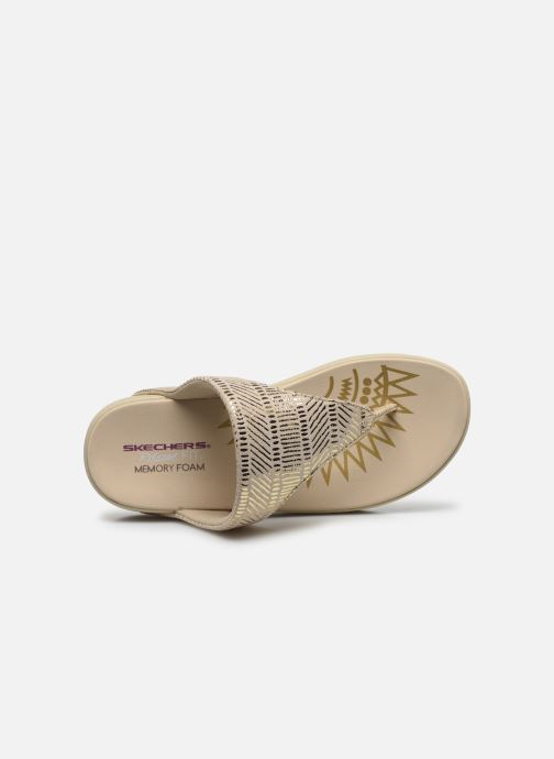Chanclas Skechers RETROGRADES JUPITER Oro y bronce vista lateral izquierda