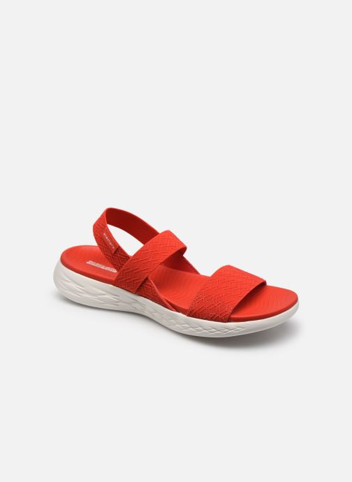 Sandalias Skechers ON-THE-GO 600 GIRLS TRIP Rojo vista de detalle / par