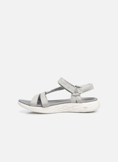 Sandalen Skechers ON-THE-GO 600 grau ansicht von vorne
