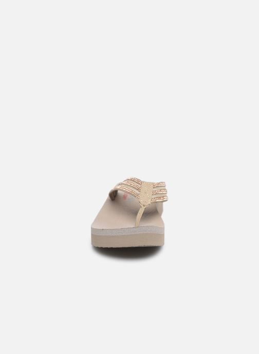 Tongs Skechers VINYASA SUGAR PIE Beige vue portées chaussures