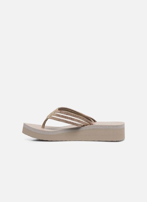 Chanclas Skechers VINYASA SUGAR PIE Beige vista de frente