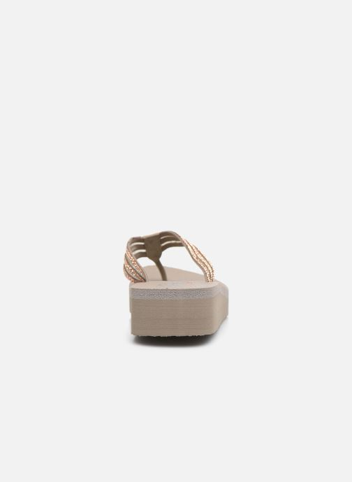 Chanclas Skechers VINYASA SUGAR PIE Beige vista lateral derecha