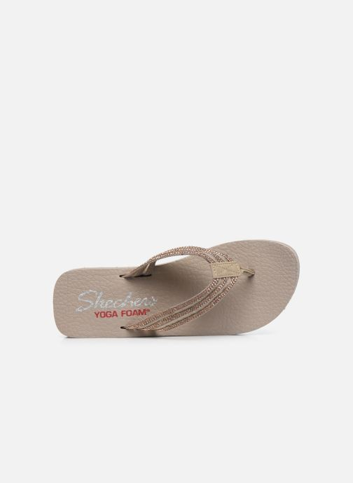 Chanclas Skechers VINYASA SUGAR PIE Beige vista lateral izquierda