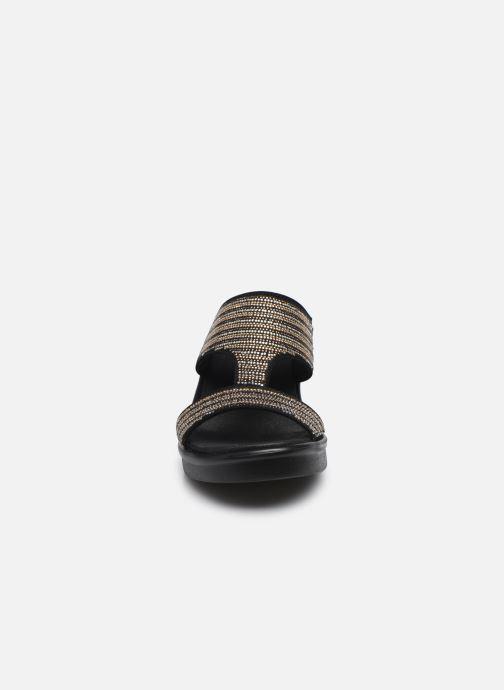 Mules et sabots Skechers RUMBLE ON BLING GAL Noir vue portées chaussures