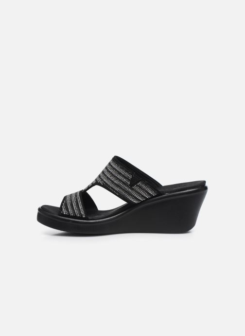 Zoccoli Skechers RUMBLE ON BLING GAL Nero immagine frontale