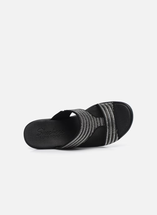 Zoccoli Skechers RUMBLE ON BLING GAL Nero immagine sinistra