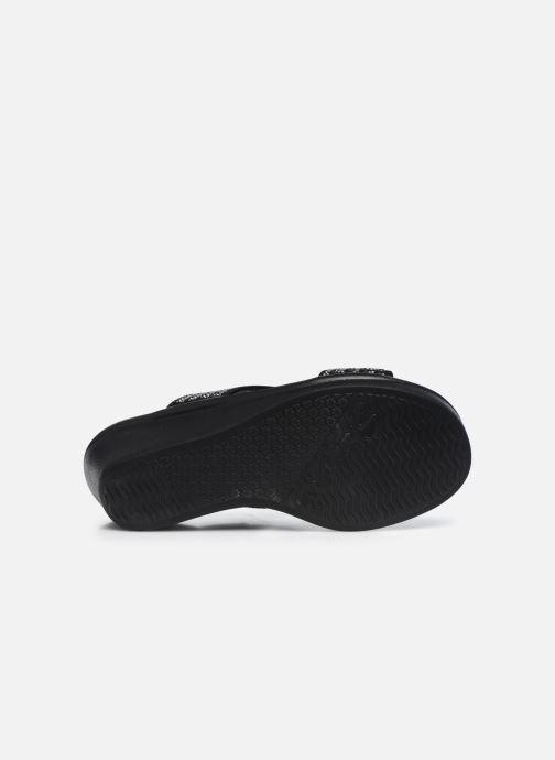 Zuecos Skechers RUMBLE ON BLING GAL Negro vista de arriba