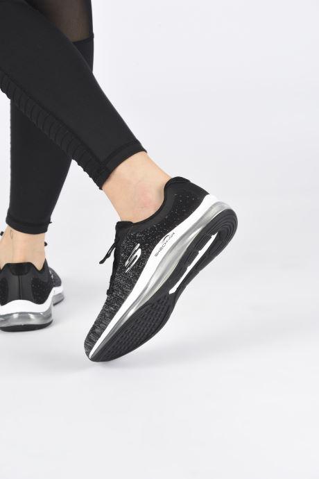 Baskets Skechers SKECH-AIR ELEMENT 2.0 DANCE TALK Noir vue bas / vue portée sac