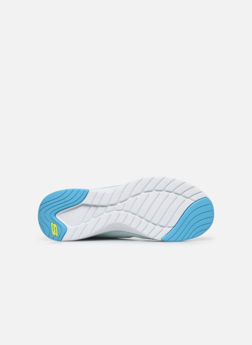 Baskets Skechers ULTRA GROOVE W Bleu vue haut