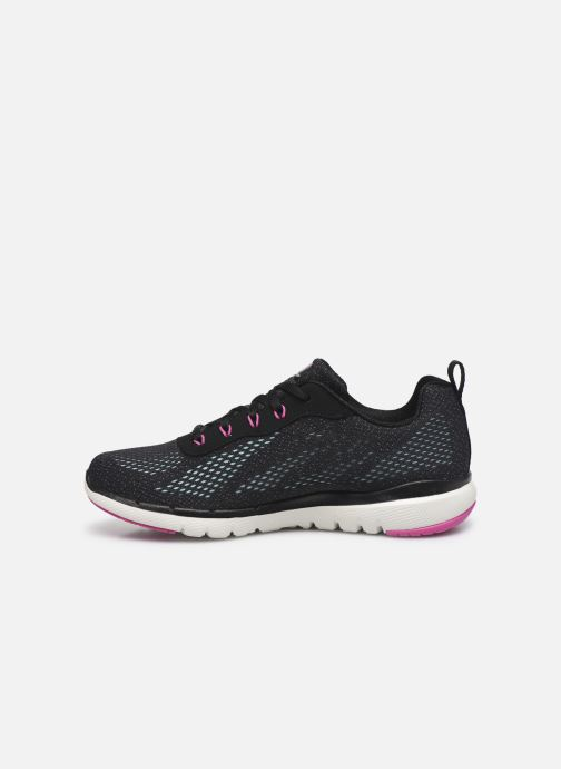 Baskets Skechers FLEX APPEAL 3.0 PURE VELOCITY Noir vue face