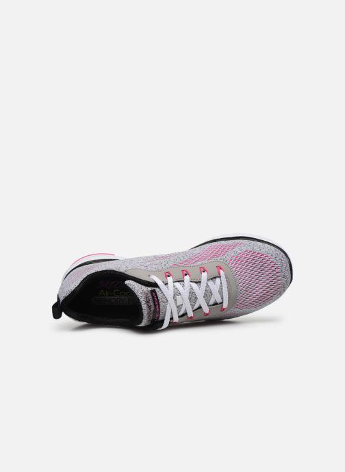 Baskets Skechers FLEX APPEAL 3.0 PURE VELOCITY Gris vue gauche