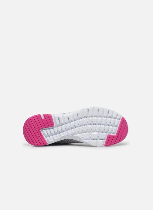 Baskets Skechers FLEX APPEAL 3.0 PURE VELOCITY Gris vue haut