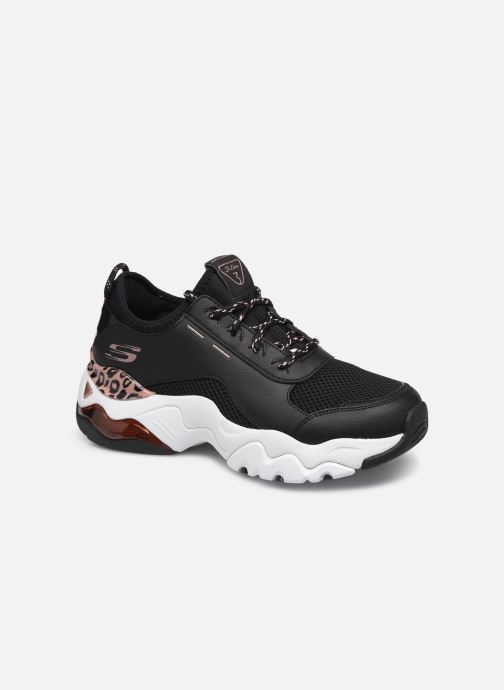 Skechers D'LITES 3.0 AIR QUEEN LEOPARD Trainers in Black at