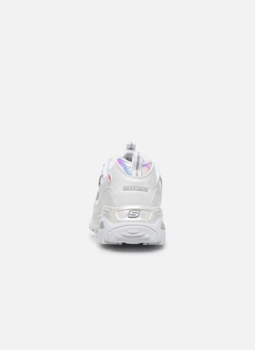 Baskets Skechers D'LITES FLASH TONIC Blanc vue droite