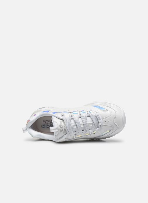 Baskets Skechers D'LITES FLASH TONIC Blanc vue gauche