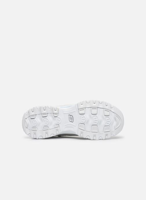 Baskets Skechers D'LITES FLASH TONIC Blanc vue haut