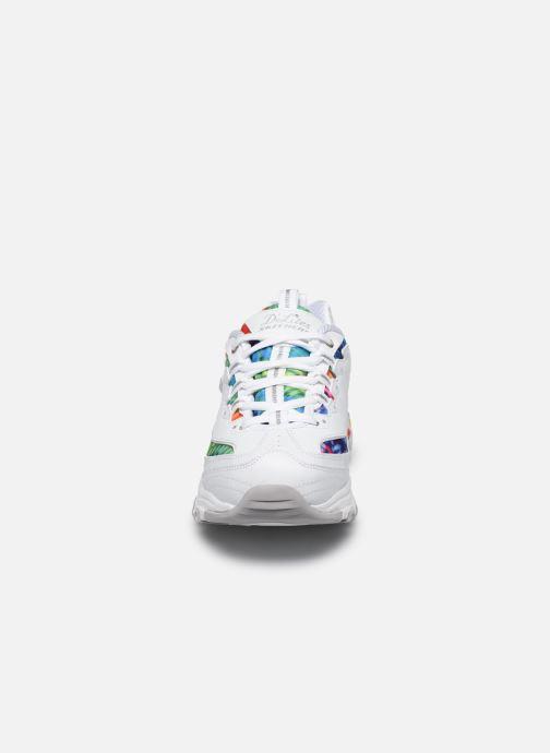 Sneakers Skechers D'LITES SUMMER FIESTA Bianco modello indossato